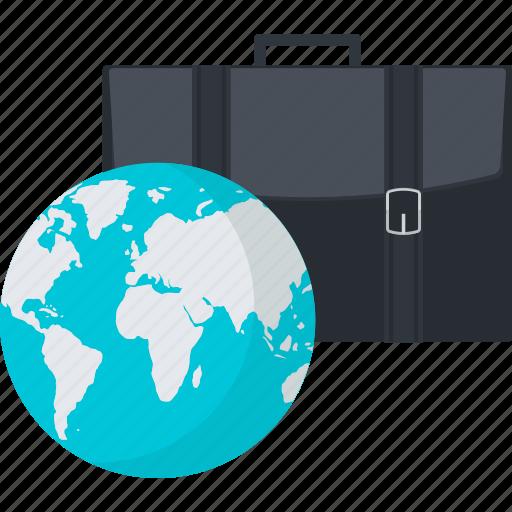 business, flat design, globe, international icon