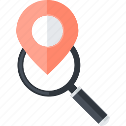 flat design, internet, local, navigation, pin, place, seo icon