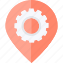 flat design, location, navigation, optimization, pin, places icon