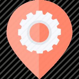 flat design, location, navigation, optimization, pin, places icon