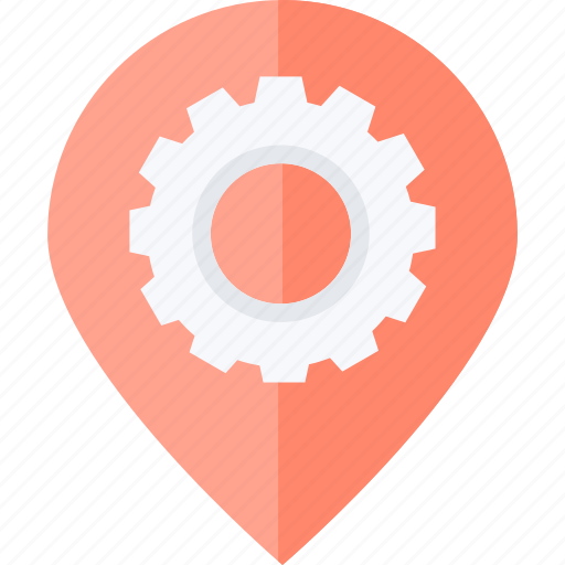 location, navigation, optimization, pin, places icon