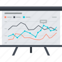 analysis, chart, flat design, presentation, seo, trainings, website icon
