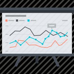 analysis, chart, flat design, presentation, seo, trainings, website icon