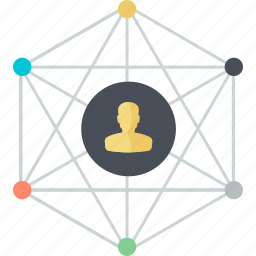communication, flat design, media, network, networking, people, social icon