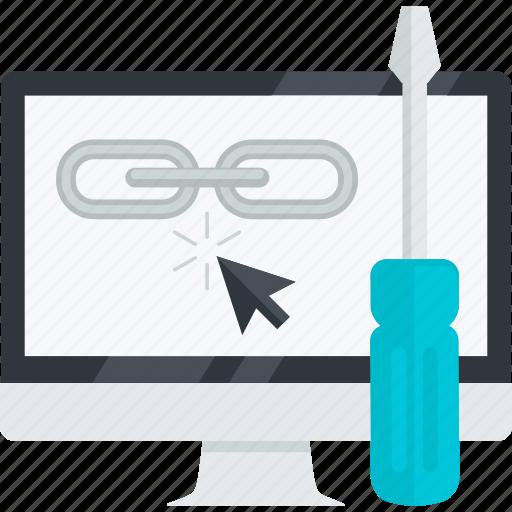 flat design, internet, link, optimization, seo, weblinks, website icon