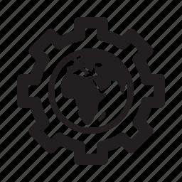gear, optimization, seo, web development icon