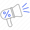advertising, hand, marketing, megaphone, promotion icon