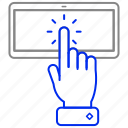 click, hand, tablet, technology icon