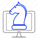 chess, computer, strategy, tactic, technology icon