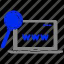 find, internet, marketing, results, search, seo icon