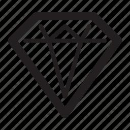 clean code, diamond, gemstone, investment icon