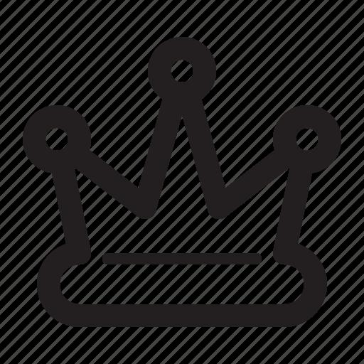 crown, premium services, quality, royal icon