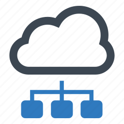 cloud computing, communication, connection, networking icon