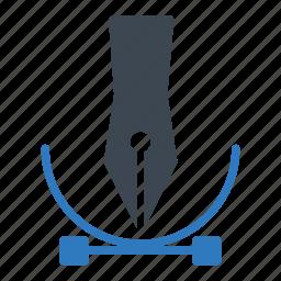 curve, design, drawing, illustrator icon