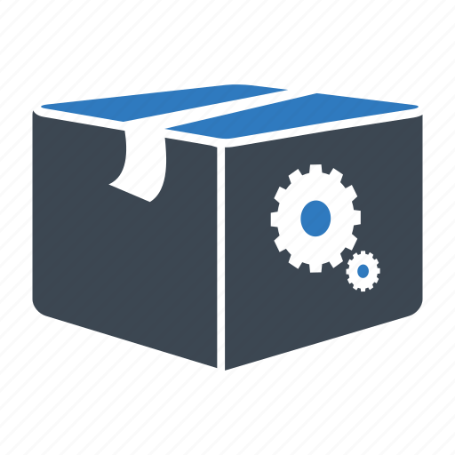 box, package, search engine icon