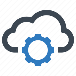 cloud, gear, options, settings icon