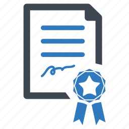 agreement, certificate, contract, diploma icon