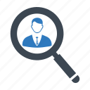 employee, looking, search job icon