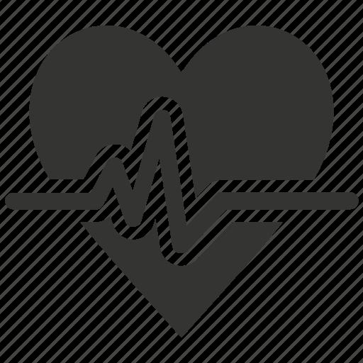 cardiogram, heart care, heart health, heartbeat, pulse icon