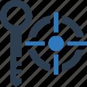 keyword, target, targeting icon