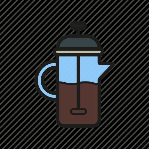 coffee, coffeepot, frenchpress, kettle, pot, tea, teapot icon icon