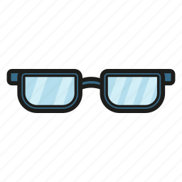 glasses, male glasses, see, study icon icon
