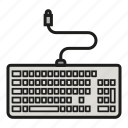keyboard, keypad, keys, typing, writing icon icon