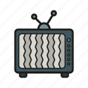 entertainment, movie, television, tv, tv set icon icon
