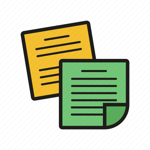 note, office, outline, paper, postit icon, sticker icon icon