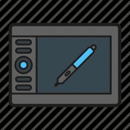creative, design, draft, draw, graphic, streamline, tablet icon icon