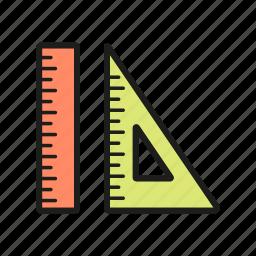 measure, office, ruler, scale, school icon, set icon icon