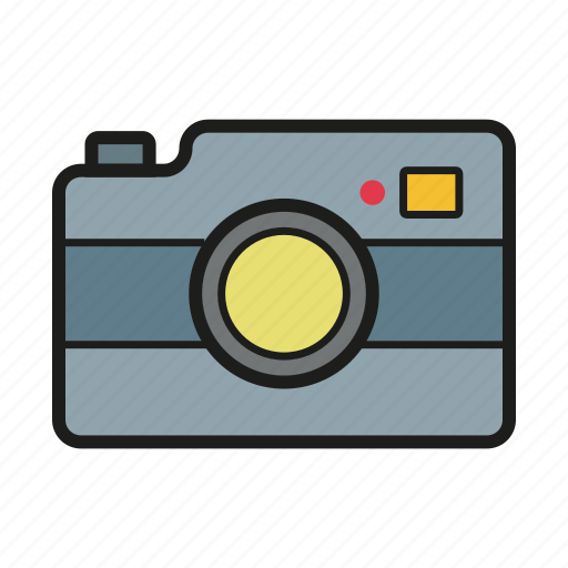 cam, objective, photo camera, photocamera, photography icon icon