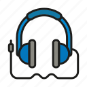 audio, headphones, multimedia, music, sound icon icon