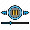 buttons, make forward, music player, player icon icon