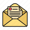 envelope, message, open envelope, snail mail icon icon