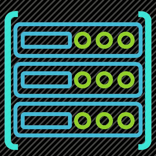cloud, database, hosting, server icon