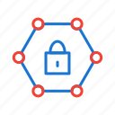 locked, network, password, protected icon