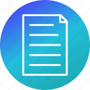 document, page, report, text icon