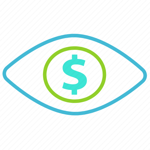 creative, dollar, money, vision icon