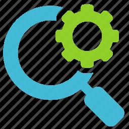 explore, magnifier, optimization, search icon