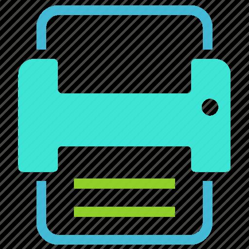 marker, pin, print, printer icon