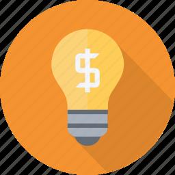 bulb, business, creative, idea, inspiration, light, plan, thinking icon
