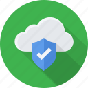antivirus, cloud, firewall, protect, protection, secure, security, shield icon