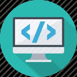 binary, code, coding, css, developmrnt, html, java, programming icon