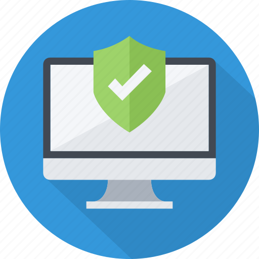 data, desktop, privacy, protection, safety, secure, shield icon