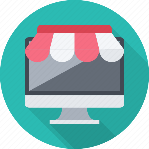desktop, ecommerce, monitor, online, shop, shopping, store icon