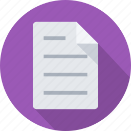 document, draft, file, note, paper, report, text icon