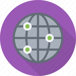 domain, global, globe, intranet, ip, network, server icon