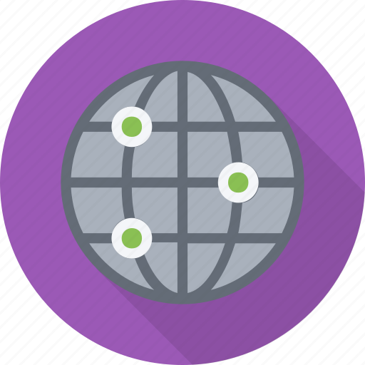 domain, global, globe, intranet, ip, network, server icon