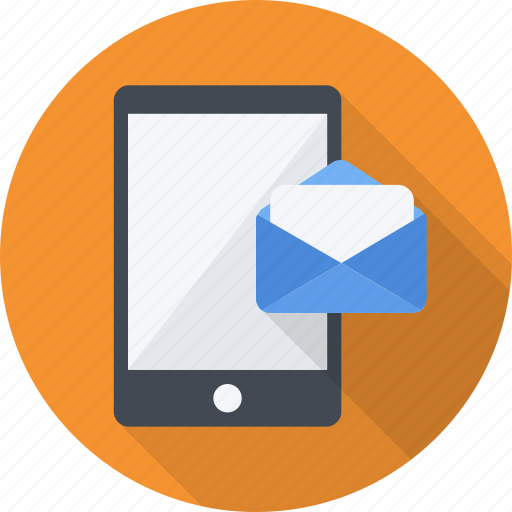letter, mail, mailing, mobile, sending, smart icon